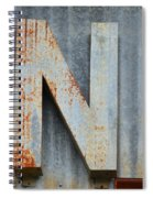 The Letter N Spiral Notebook