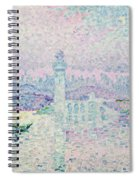 The Lighthouse At Antibes Spiral Notebook