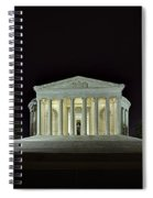 The Lonely Tourist At Jefferson Memorial Spiral Notebook