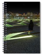 The Lonely Tourist At Pentagon Memorial Spiral Notebook