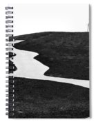 The Long And Winding Road Bw Spiral Notebook