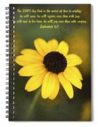 The Lord Thy God In The Midst Of Thee Is Mighty Spiral Notebook