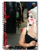 The Mad Hatter And The Red Queen Spiral Notebook