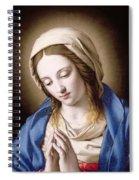 The Madonna Praying Spiral Notebook