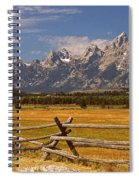The Majestic Tetons Spiral Notebook