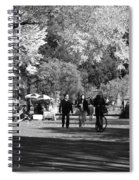 The Mall At Central Park In Black And White Spiral Notebook