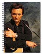 The Man In Black Spiral Notebook