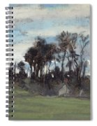 The Meadow Lined With Trees  Spiral Notebook