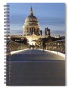 The Millennium Bridge Looking North Spiral Notebook
