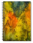 The Mist In The  Autumn Spiral Notebook