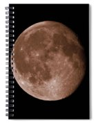 The Moon In Sepia Spiral Notebook