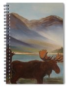 The Mountain Moose Spiral Notebook