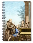 The Mozart Family On Tour 1763 Spiral Notebook