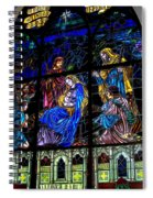 The Nativity Stained Glass Spiral Notebook