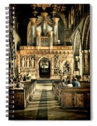 The Nave At St Davids Cathedral 2 Spiral Notebook