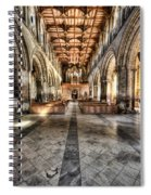 The Nave At St Davids Cathedral 3 Spiral Notebook