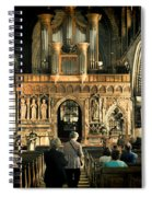 The Nave At St Davids Cathedral Spiral Notebook