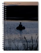 The Night Fisherman Floats Spiral Notebook
