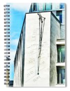 The Noon Sundial At The London Stock Exchange Spiral Notebook