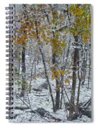 The October Blizzard Begins Spiral Notebook