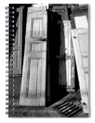 The Old Doors Bw Spiral Notebook