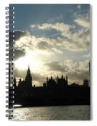 The Outline Of Big Ben And Westminster And Other Buildings At Sunset Spiral Notebook