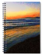 The Painted Waves Of Dawn  Spiral Notebook