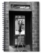 The Payphone - Black And White Spiral Notebook