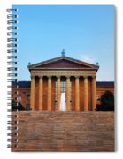 The Philadelphia Museum Of Art Front View Spiral Notebook