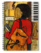 The Piano Lady Spiral Notebook