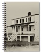 The Piney Point Lighthouse In Sepia Spiral Notebook