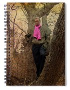 The Pink Scarf Spiral Notebook