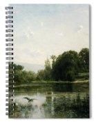 The Pond At Gylieu Spiral Notebook