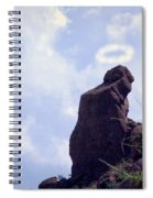 The Praying Monk With Halo - Camelback Mountain - Painted Spiral Notebook