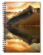 The Quiet Golden Glow Spiral Notebook