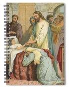The Raising Of Jairus' Daughter Spiral Notebook