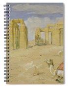 The Ramesseum At Thebes Spiral Notebook