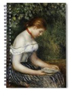 The Reader A Seated Young Girl  Spiral Notebook