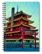 The Reading Pagoda Spiral Notebook