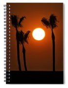 The Red Sunset  Spiral Notebook