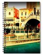 The Rialto Bridge Of Venice In Las Vegas Spiral Notebook
