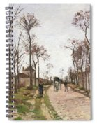 The Road To Saint Cyr At Louveciennes Spiral Notebook