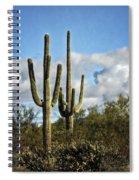 The Saguaros  Spiral Notebook