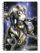 The Sapphire Of Fate Spiral Notebook
