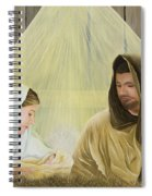 The Savior Is Born Spiral Notebook