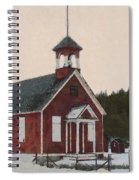 The School House Painterly Spiral Notebook