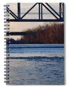 The Schuylkill River At Bridgeport Spiral Notebook