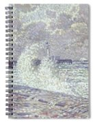 The Sea During Equinox Boulogne-sur-mer Spiral Notebook