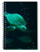 The Sea Turtle Dives Spiral Notebook
