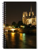 The Seine And Notre Dame At Night Spiral Notebook